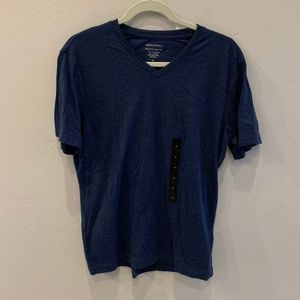 NWT Banana Republic Navy Blue V Neck Tee Shirt M